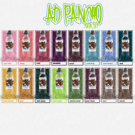 A.D. Pancho Color Set - 16 colori - World Famous Ink
